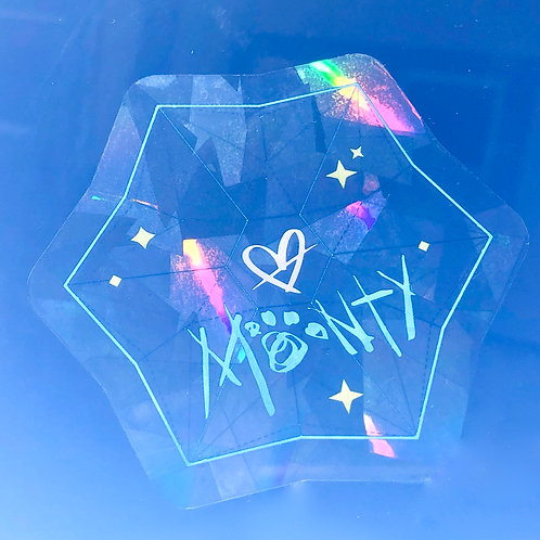 Rainbow Star Seed Window Sticker