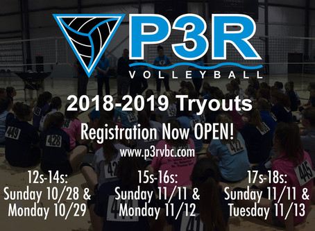 Tryout Dates & Times Set - REGISTER NOW!!!