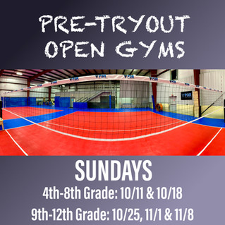 FULL: Pre-Tryout Open Gyms