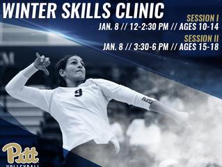 Pitt Volleyball Winter Skills Clinic