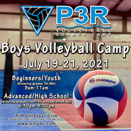 P3R to host 1st-ever Boys Volleyball Camps; Register NOW