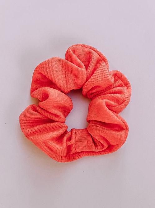 Solid Salmon Orange Scrunchie
