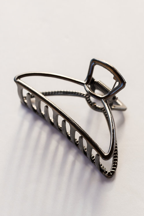 Charcoal Metal Claw Clip