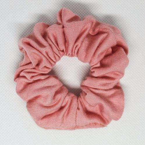 Solid Peach Scrunchie