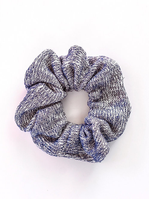 Wintery Blue Sweater Knit Scrunchie