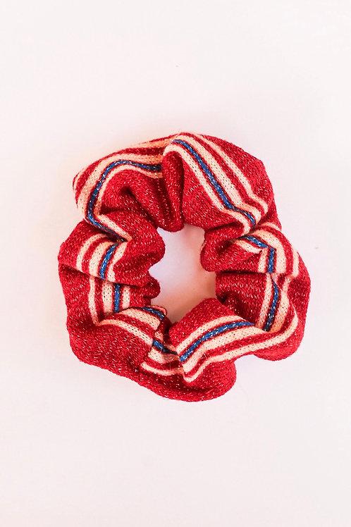 Patriotic Striped Sparkle Knit Scrunchie
