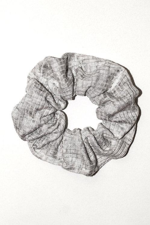 Light Heather Grey Ribbed Scrunchie
