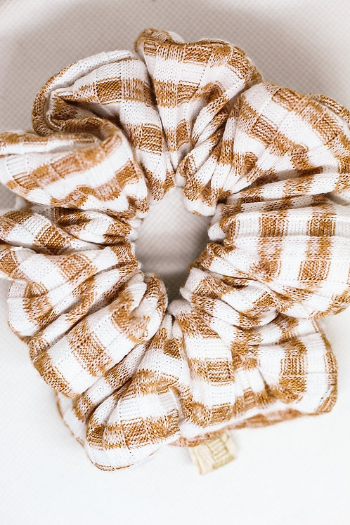 Nude Striped Luxe Scrunchie