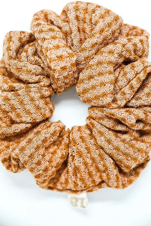 Rustic Orange Luxe Scrunchie