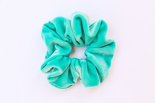 Tiffany Blue Velvet Scrunchie