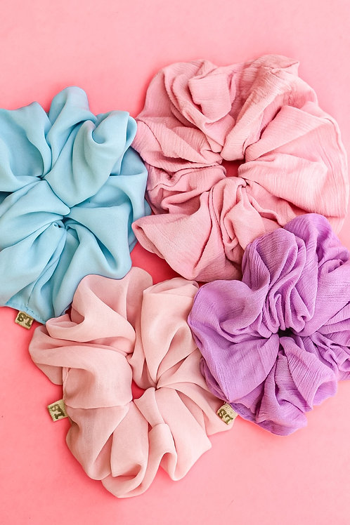 Cotton Candy Oversized Scrunchies