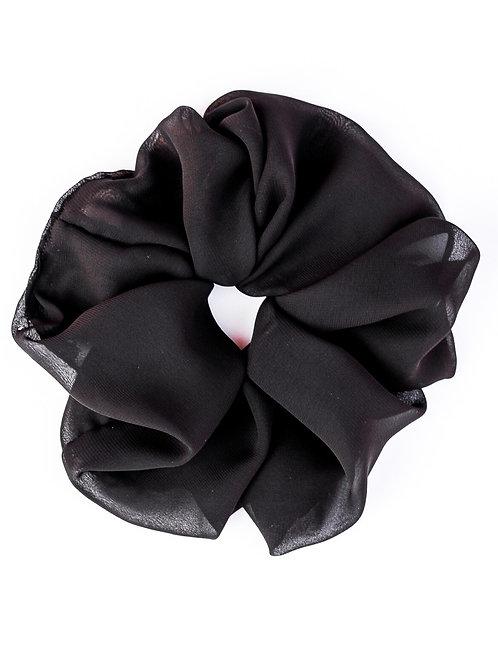 Black Chiffon Oversized Scrunchie