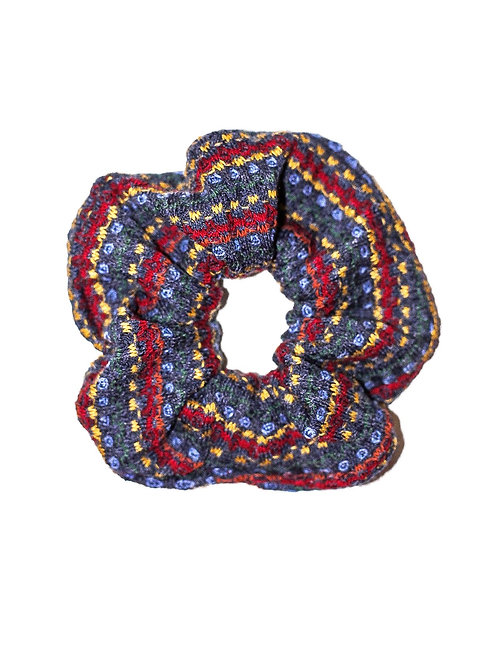 Mixed-Aztec Waffle Weave Scrunchie
