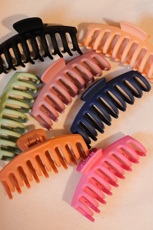 Jumbo Matte Claw Clips