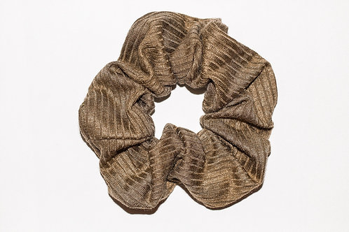 Solid Army Green Ribbed Scrunchie
