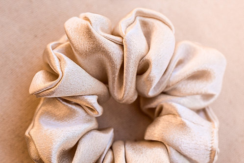 Champagne  Silk Scrunchie