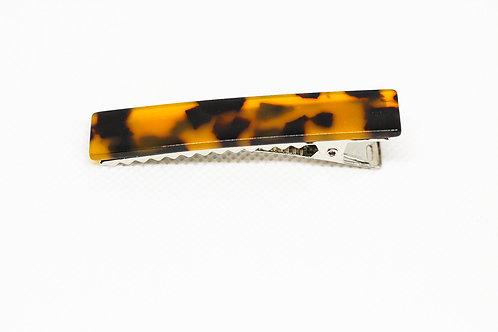 Brown Leopard Arcrylic Bar Clip