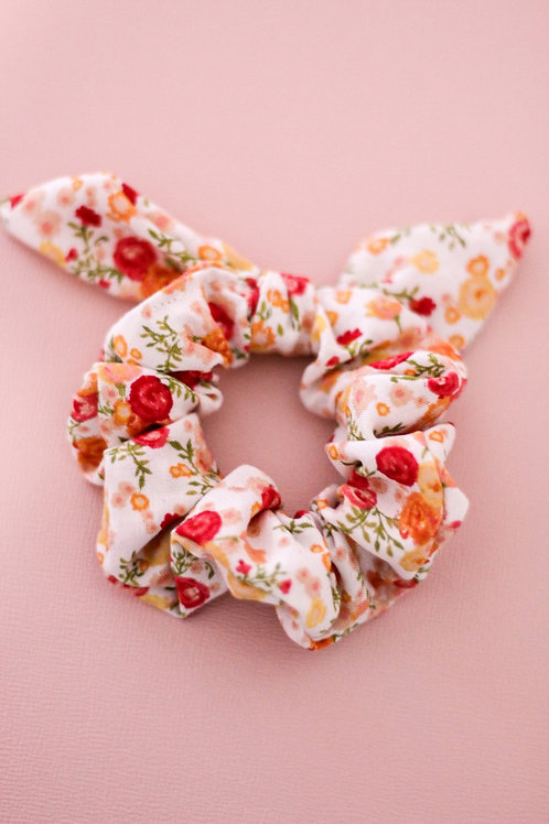 Mini Spring Floral Bow Scrunchie