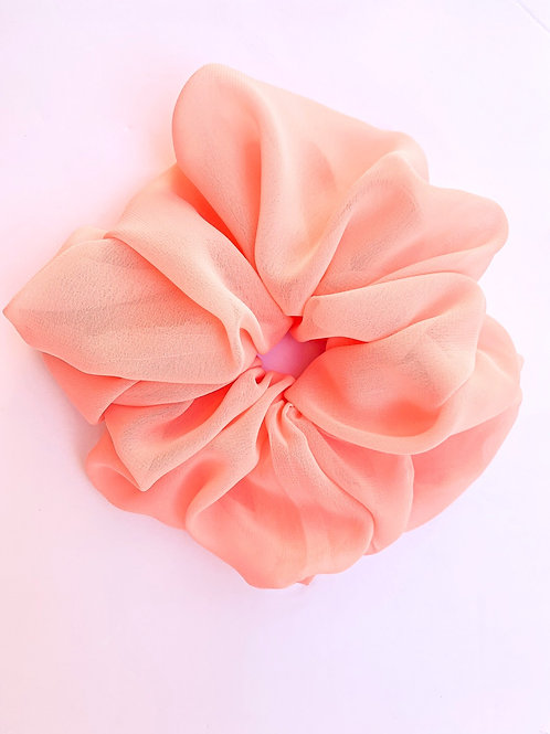 Peach Chiffon OverSized Scrunchie