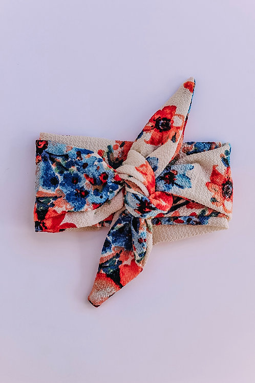 Fire & Ice Floral Hair Scarf