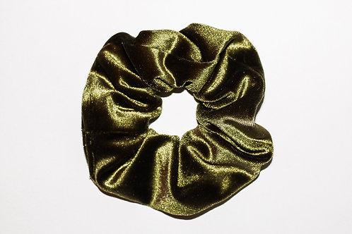 Olive Green Velvet Scrunchie
