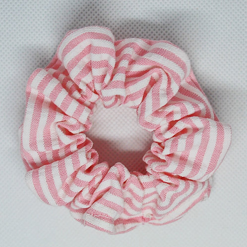 Light Pink Striped Scrunchie