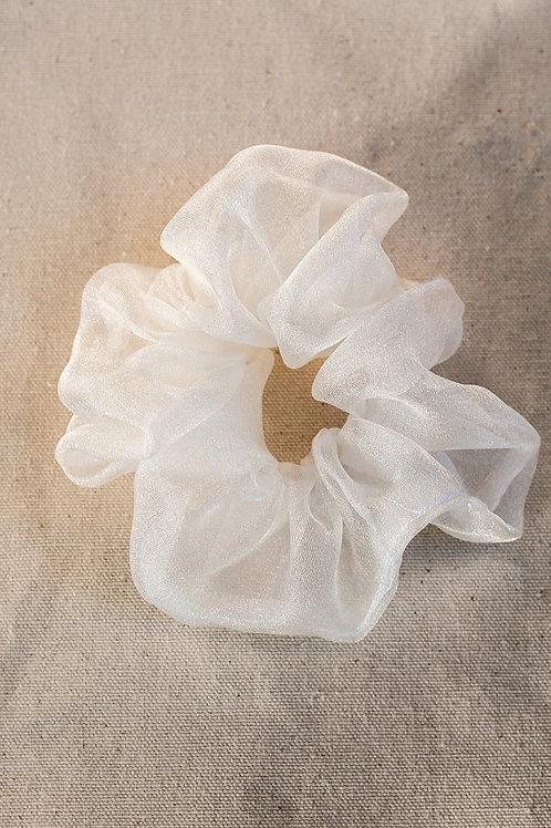 Oversized Snow Shimmer  Scrunchie