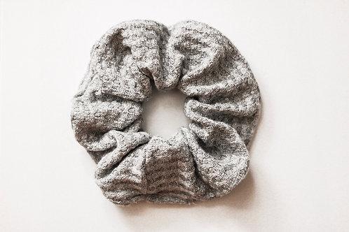 Light Grey Waffle Knit Scrunchie