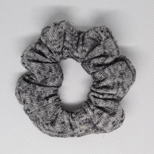 Heather Grey Knit Scrunchie