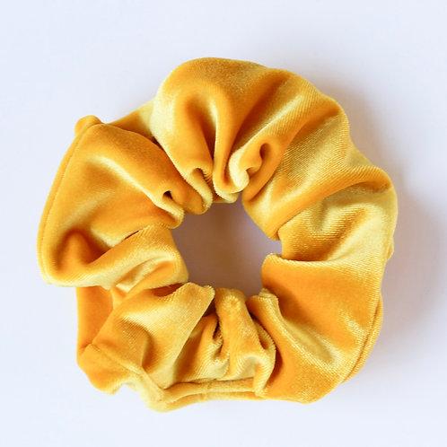 Sunny Yellow Velvet Scrunchie