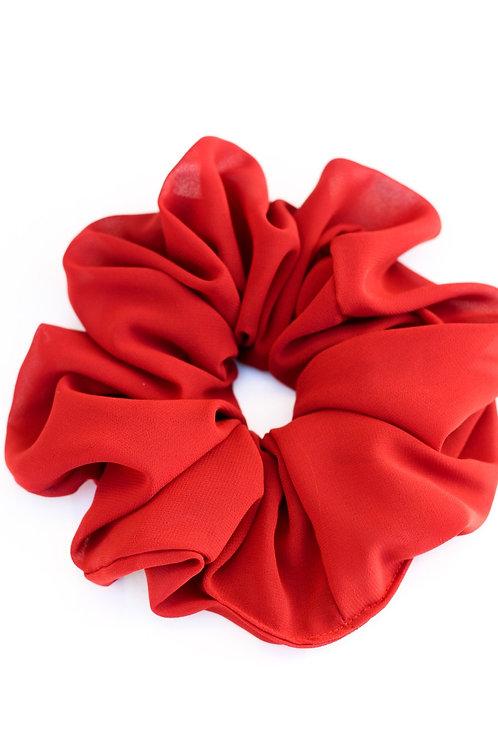 Brick Red Oversized Scrunchie