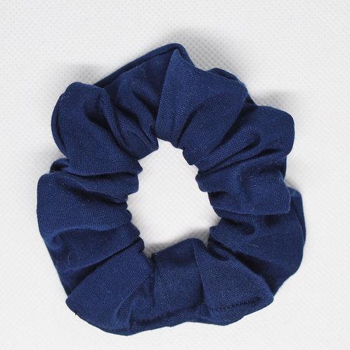 Solid Navy Blue Scrunchie