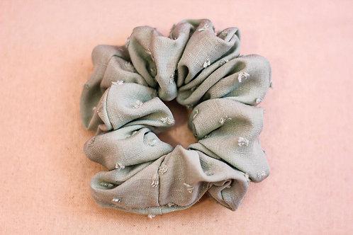 Sage Dotted Scrunchie