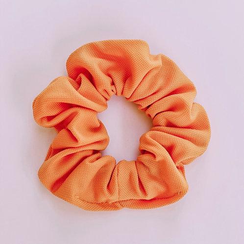 Solid Tang Orange Scrunchie
