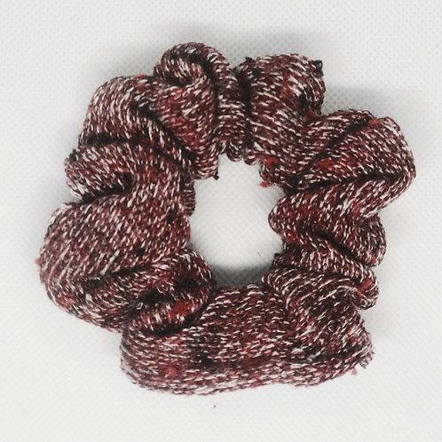 Multi-Maroon Chunky Knit Scrunchie