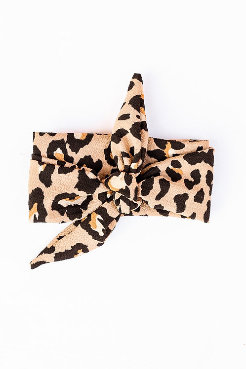 Beige Cheetah Hair Scarf