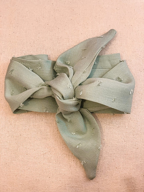 Sage Dotted Hair Scarf