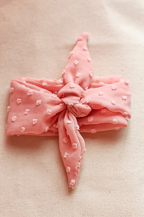 Pink Dotted Hair Scarf