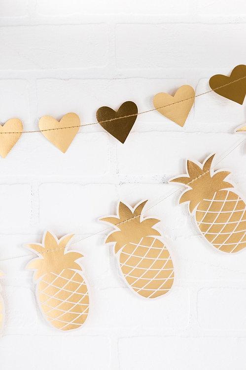 Pineapple Banner- Gold