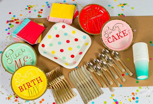 Add-on - Classic Birthday Box Tableware & Flatware