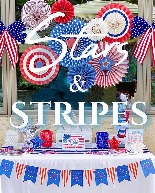 Stars & Stripes- Party On Size