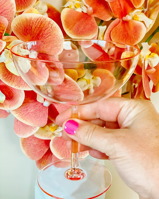 Pink Champagne Coupes (4pk)