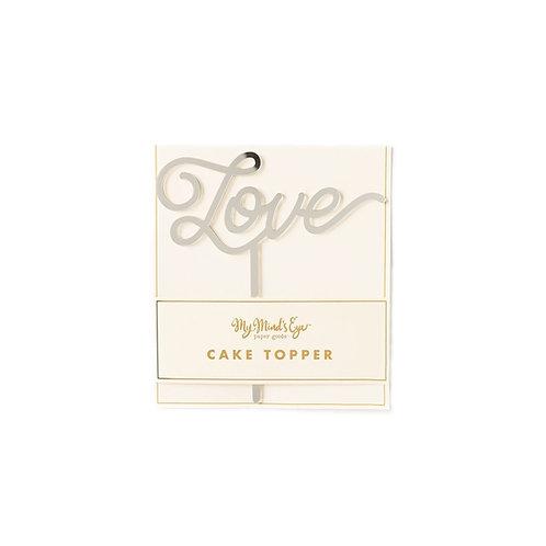 Love Cake Topper- Silver