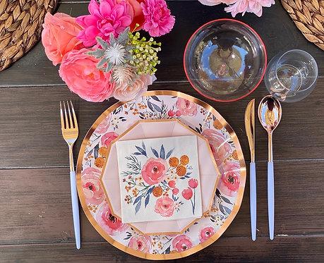 Extra Tableware Kit- Floral Blush
