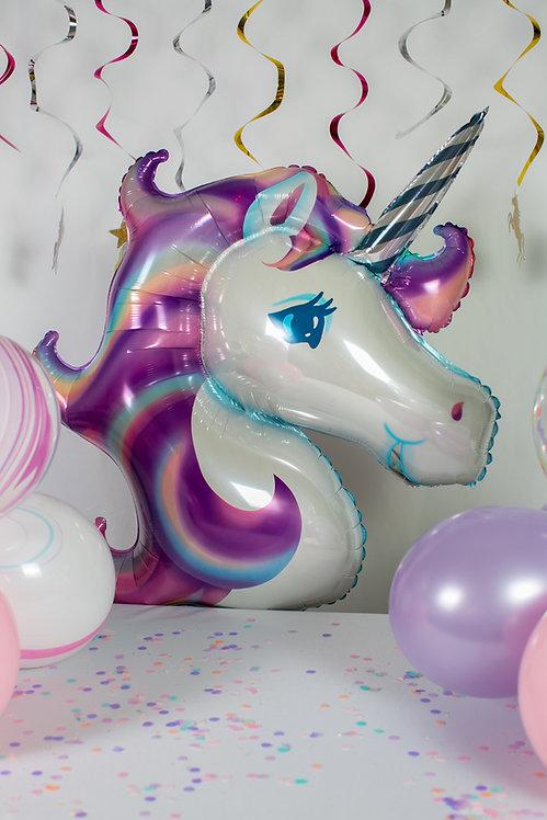 Unicorn Foil Balloon Purple