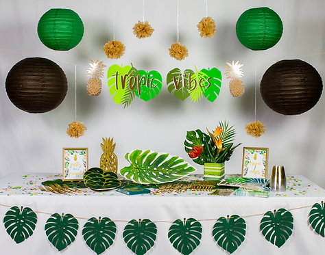 "Tropic Vibes Box ""PARTY ON"" Size"