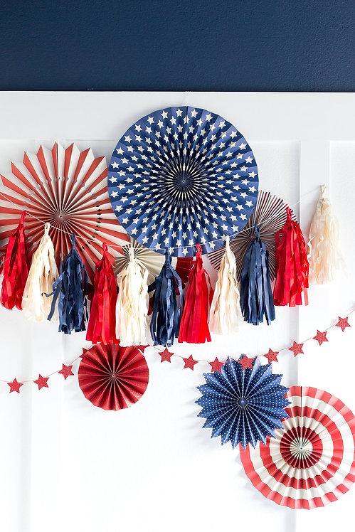 Stars & Stripes Tassel Banner