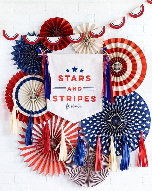 Stars & Stripes Canvas Sign