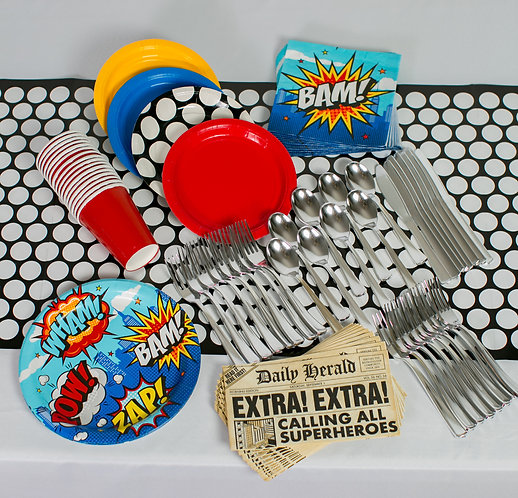 Add-on - Superhero Table & Flatware