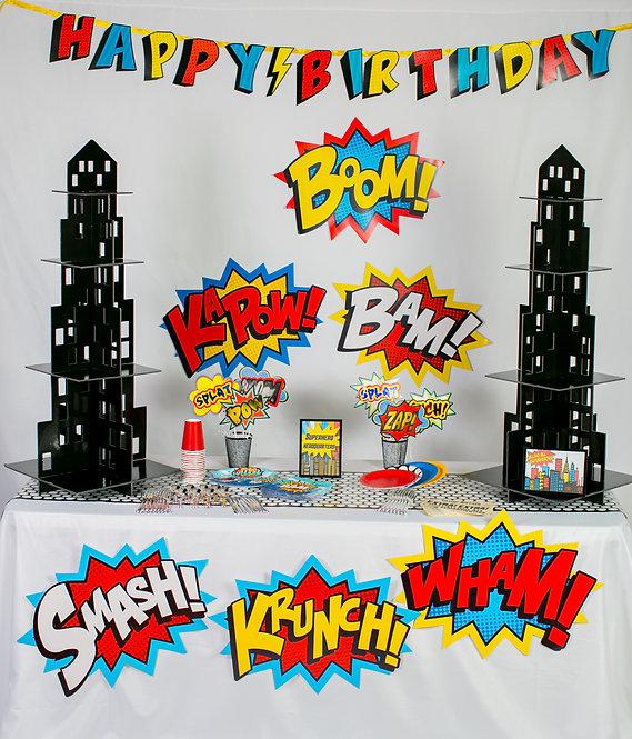 "Superhero Party Box ""PARTY HARD"" Size"